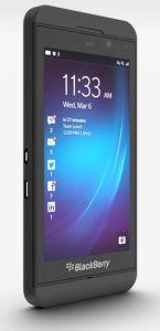 Frontansicht auf das BlackBerry Z10