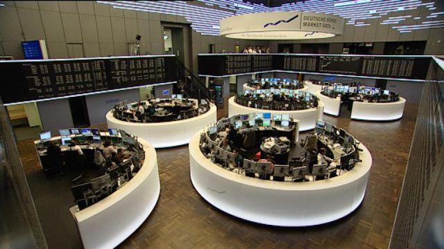 Bild des Handelsraum an der Börse Frankfurt am Main.