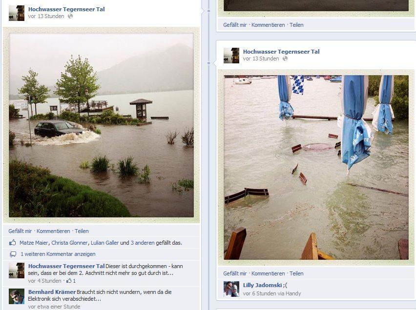 Hochwasser Facebook