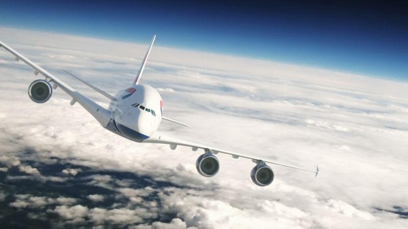 Airbus A380 der British Airways