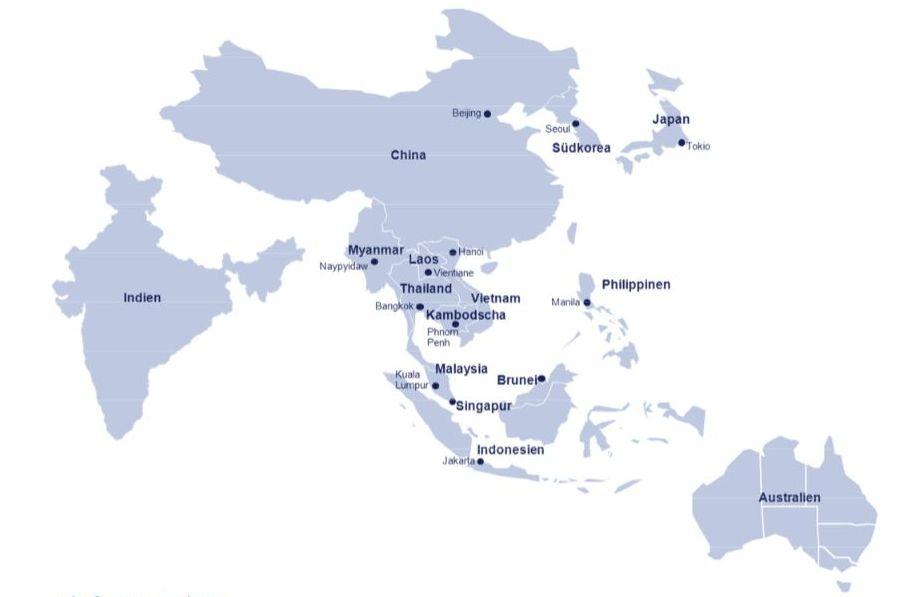 NORD/LB Weltkarte von Asien