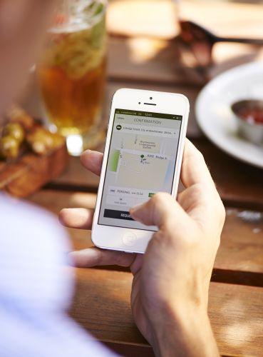 Uber Fahrdienst App Pressefoto