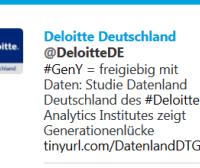 Deloitte Twitter Studie Generation Y
