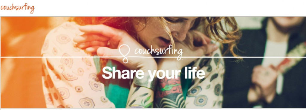 couchsurfing internet webscreen