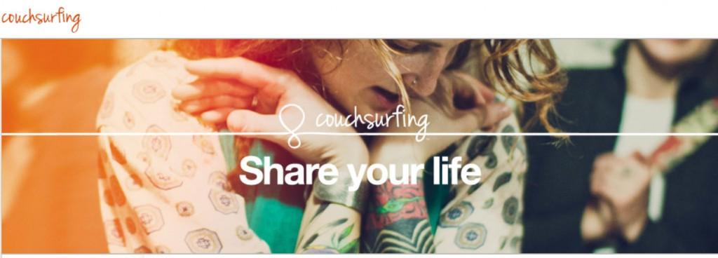 couchsurfing internet webscreen