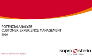 soprasteria customer experience management cover
