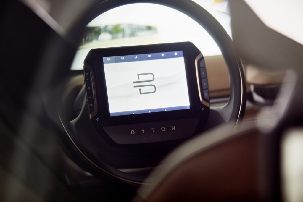 BYTON SUV Concept Interior Detail Camera