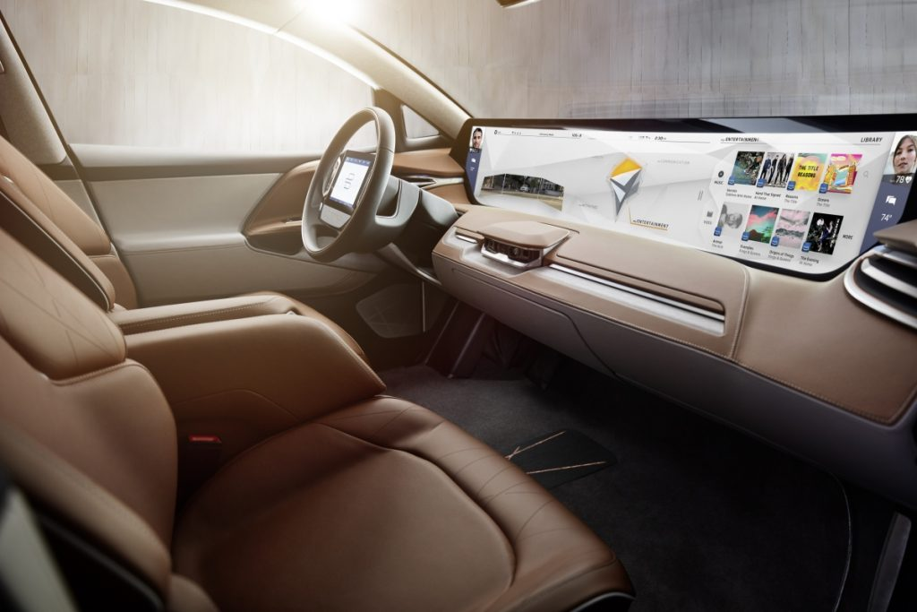 BYTON SUV Concept Interior Entertainment