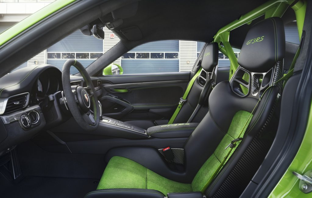 Porsche 911 gt3 rs interieur carbon