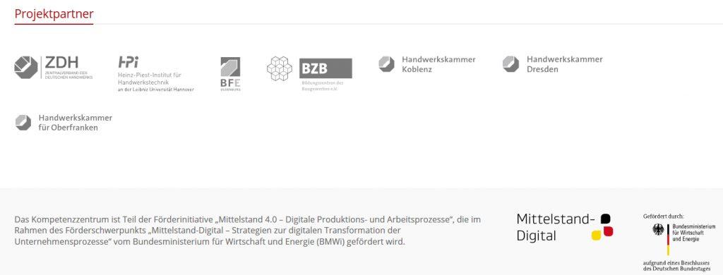 Kompetenzzentrum Digitales Handwerk Webscreen