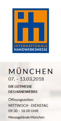 internationale handwerksmesse muenchen 2018