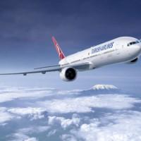 Flugzeug und Flugtickets der Turkish Airline